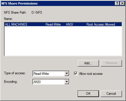 2 - Set share permissions