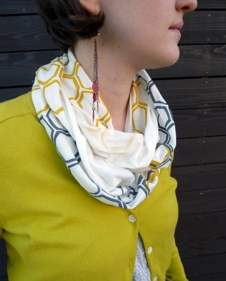 Honeycomb Scarf - Wool Jersey