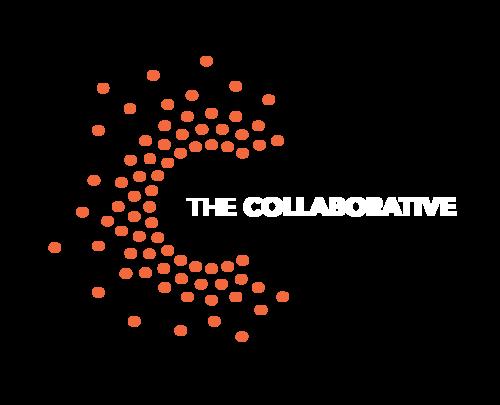 Thecollaborative identity brandmarkset wordmarkc orangeonslate