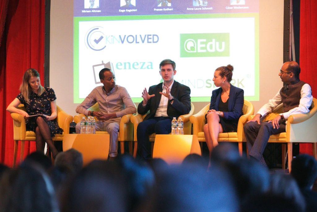 Ao centro, nosso diretor-executivo, César Wedemann, compartilhando experiências sobre o QEdu na Universidade de Columbia