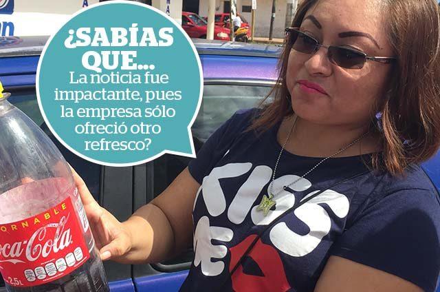 Denuncian venta de refrescos en mal estado