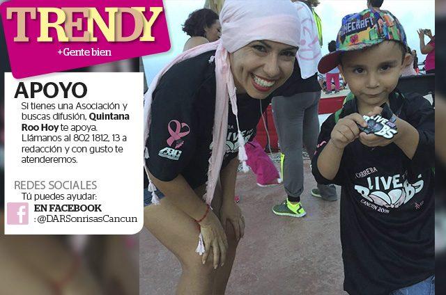 En la lucha contra el cáncer; Disfrutan dar sonrisas