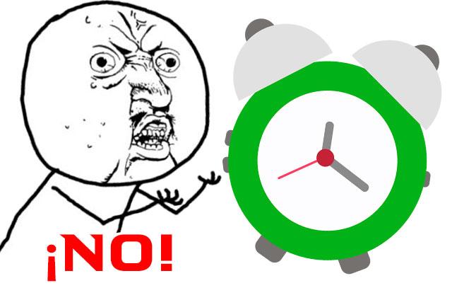 No al cambio de horario