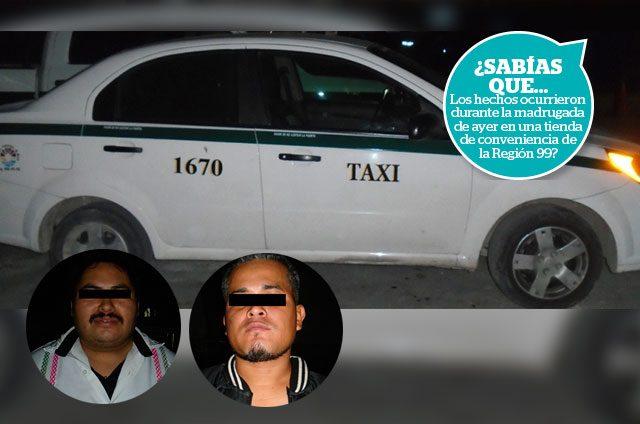 Detienen-a-taxista-implicado-en-asalto-a-tienda-comercial