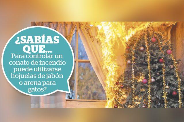 Se recomienda revisar que los pinos o series de luces tengan la leyenda resistente al fuego