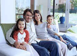 Family in a Healthy and Clean Environment
