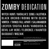 Zomby Dedication pack shot