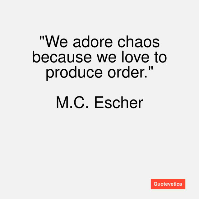 order and chaos relationship