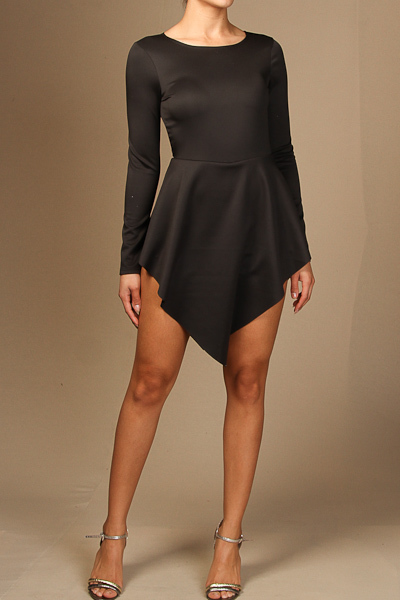 Long sleeve back cut out romper