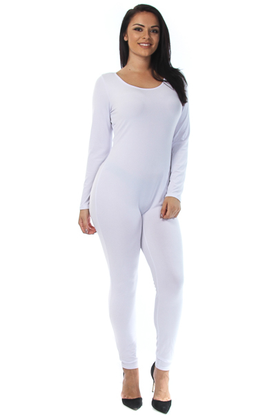 Solid long sleeve catsuit