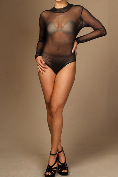 Long sleeve all mesh bodysuit