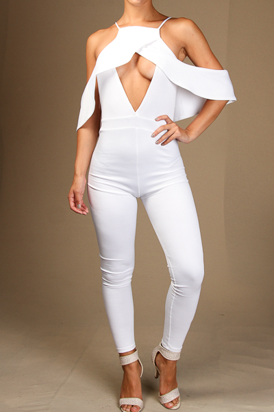 Flounce Cut-Out Jumpsuit