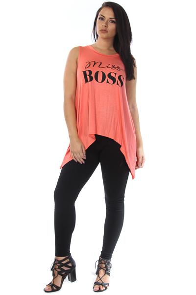 """Miss Boss"" tank top"