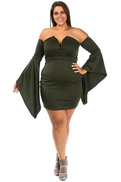 Off Shoulder Sweetheart  Mini Long Sleeved Dress