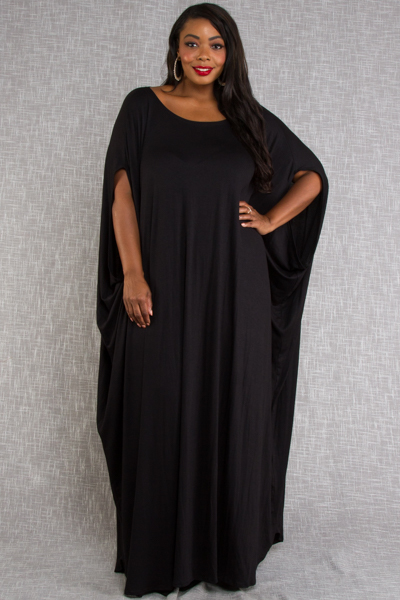 Scoop Neck Loose Maxi Jersey Harem Dress