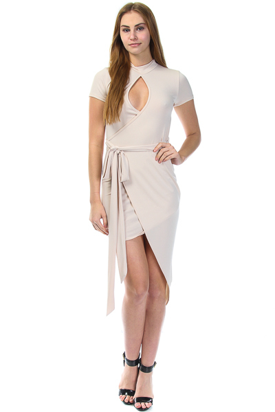 HIGH LOW WRAP DRESS
