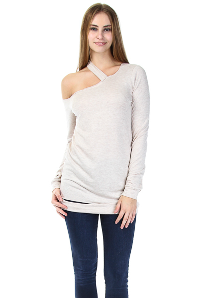 OFF SHOULD SWEATER TOP