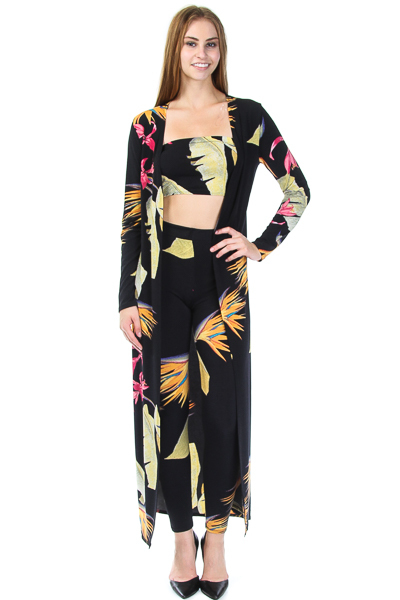 3 PIECE PRINTED JUMP SUIT