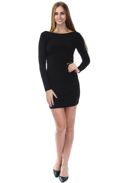 LONG SLEEVE ZIPPED AROUND BACK DRESS
