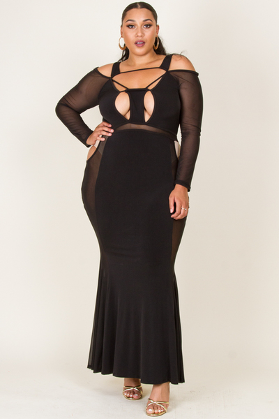 SEXY CUT OUT MAXI GOWN