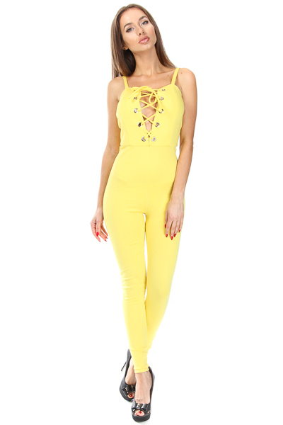SWEET HEART FRONT TIE JUMPSUIT