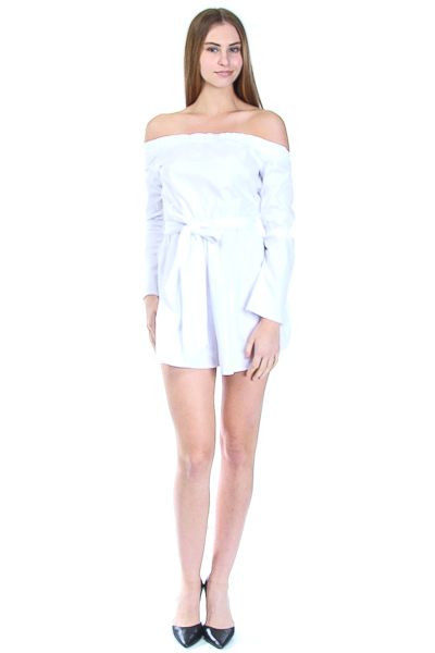 OFF SHOULDER FRONT TIE ROMPER