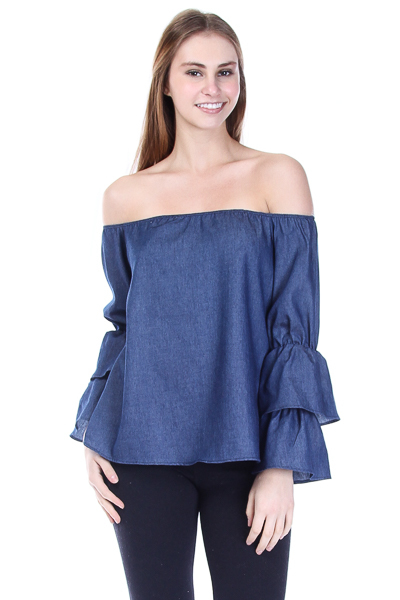 OFF THE SHOULDER BELL SLEEVE STOP