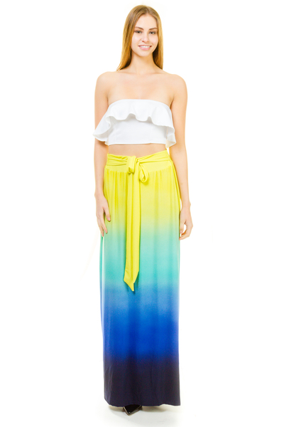 OMBRE TIE MAXI SKIRT
