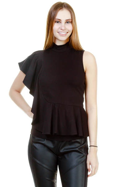 SLEEVELESS VERTIGO RUFFLE BACK AND FRONT TOP