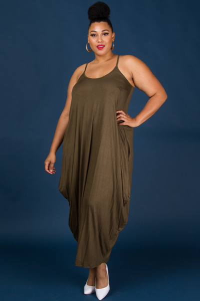 Tank Sack Dress with Pockets