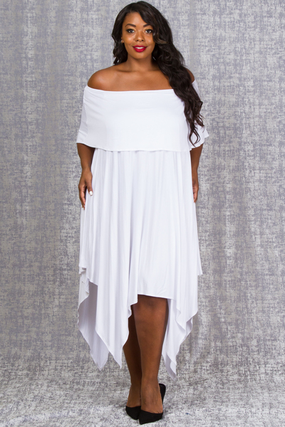 OFF SHOULDERS ASYMMETRICAL LONG DRESS