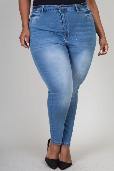 PLUS SIZE SKINNY DENIM JEANS