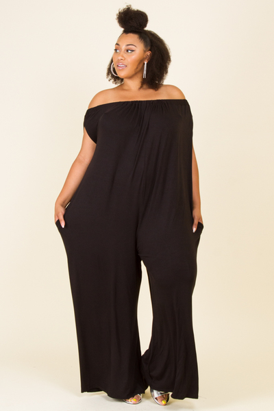 OFF SHOULDER WITH POCKET COMFORTABLED JUMPSUIT