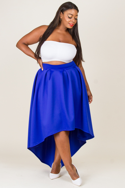 HIGH AND LOW BACK RIBBON SKIRT