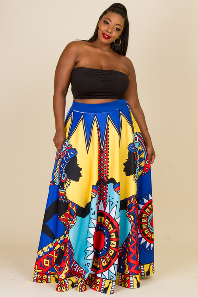 ENGINEER PRINTED SKIRT