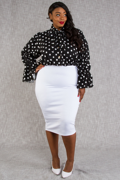 CUTE POLKA DOT PRINT TOP WITH BUTTON SLEEVES POINT MINI DRESS