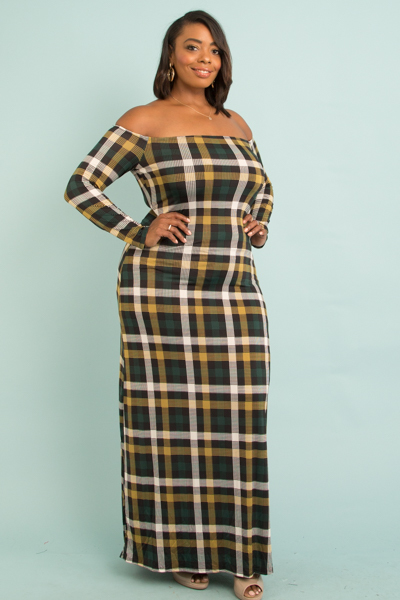 OFF SHOULDERS LONG SLEEVE MAXI DRESS