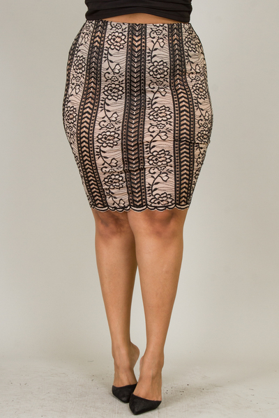 SEE-THROUGH SCALLOP BOTTOM SKIRT