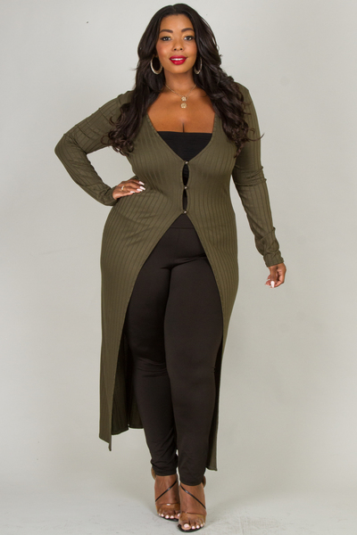 DEEP V-NECK LONG SLEEVE LIKE EMBO CARDIGAN