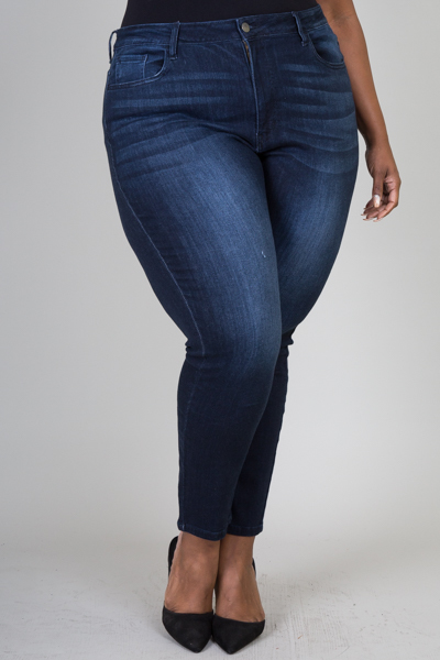 Plus size skinny denim