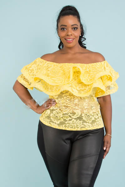 OFF SHOULDER TWO LAYER WITH BAND TOP
