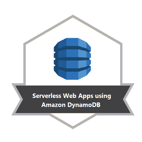 Serverless Web Apps using Amazon DynamoDB Badge