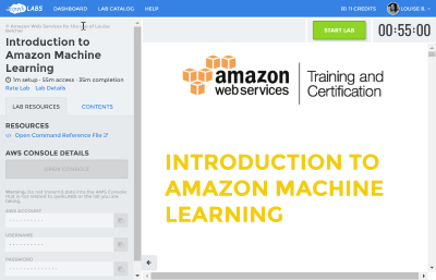 New AWS lab interface