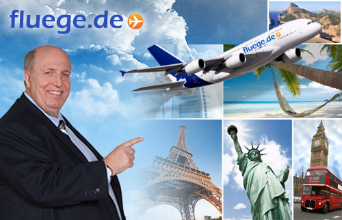 50,- Euro Gutschein für alle Flüge auf www.fluege.de für nur nur 14,99 Euro