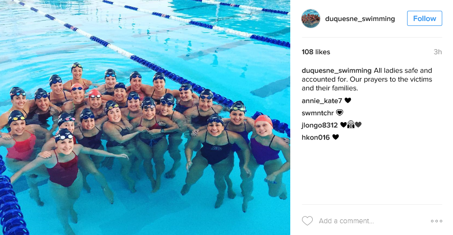 Duquesne University Swim Team Safe In Fl Airport Shooting
