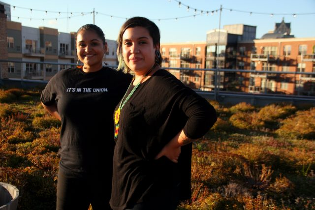 Cine Sin Fronteras curators Claudia Guzman and Jeanette Martin.