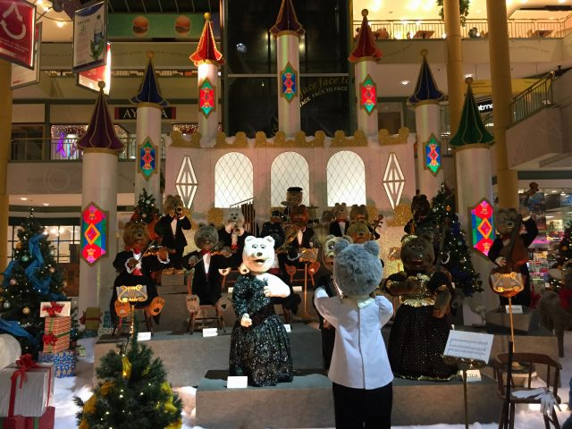 Performing every hour in Grand Avenue Mall, the bear orchestra is the brainchild and maintained by husband and wife duo, Todd and Jessica Alexander.