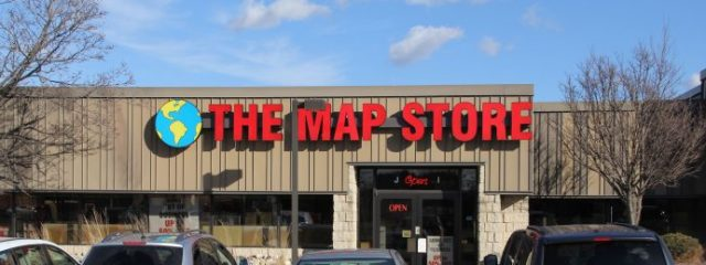 Storefront of The Map Store at 3720 N 124th Street in Wauwatosa.