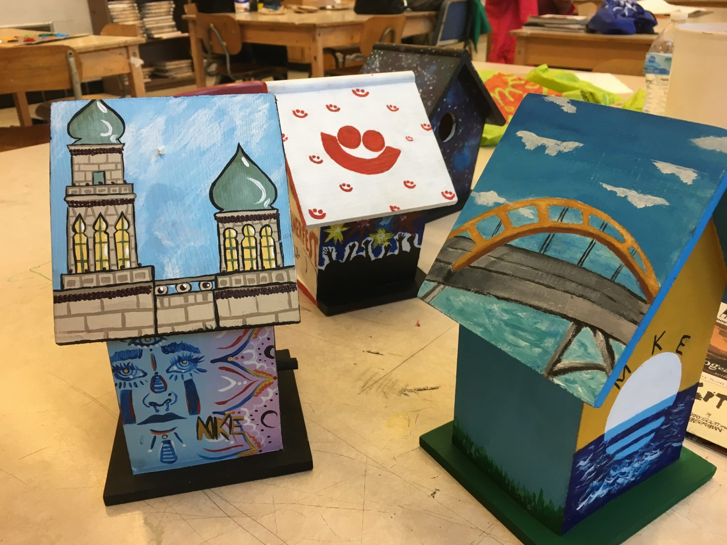 Students Sell Painted Birdhouses To Benefit Arts Large