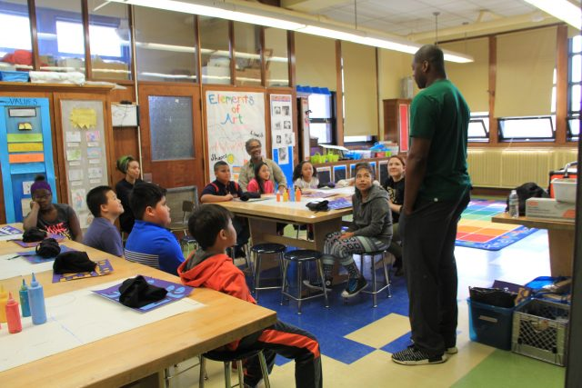 Mason answers questions from MPS students of Neeskara about his artwork, NBA career and other passions.